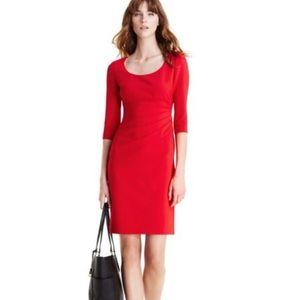 Diane Von Furstenberg DVF Red Lillian Dress 10